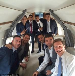 Kevin Pietersen Jamie Redknapp Plane 3