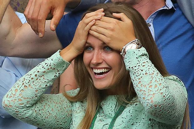 Kim Sears crying at Wimbledon