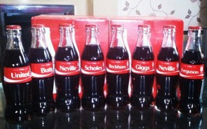 Manchester United Coke Bottles