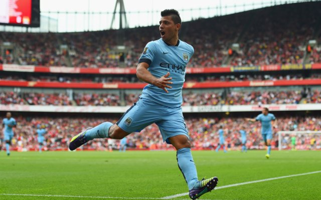 Sergio Aguero Manchester City Arsenal
