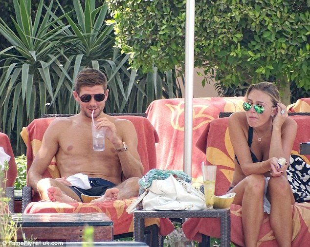 Steven Gerrard and WAG Alex Curran on holiday