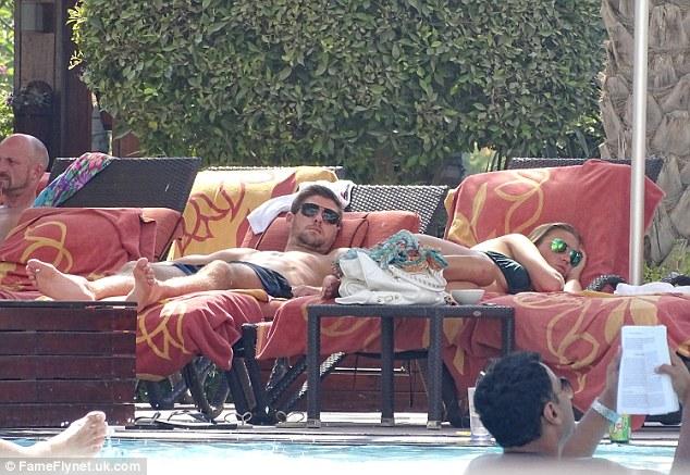 Steven Gerrard and wife Alex Curran in the sun