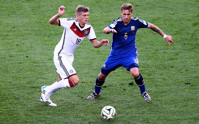 Toni Kroos Germany Lucas Biglia Argentina