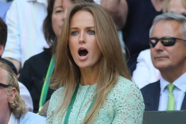 Kim Sears, Andy Murray's girlfriend, at Wimbledon