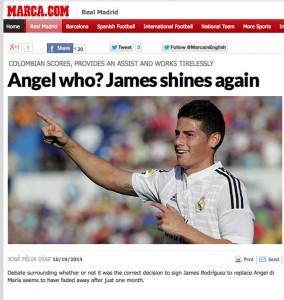 Angel di Maria James Rodriguez Spanish press