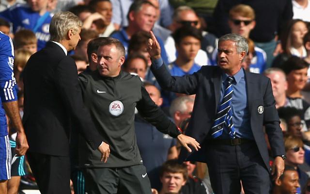 (Video) FIGHT: Arsene Wenger & Jose Mourinho Clash During