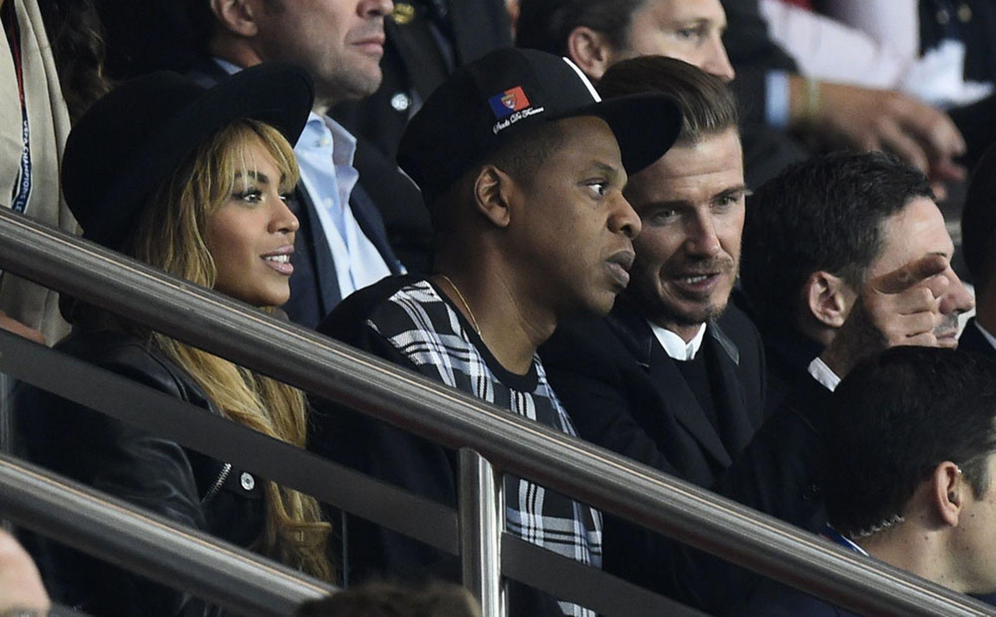 Beyonce, Jay Z, David Beckham