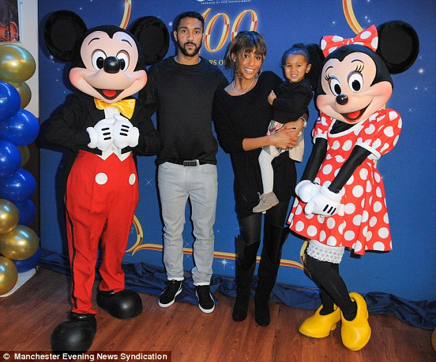 Gael Clichy and family meet Mickey and Minnie Mouse