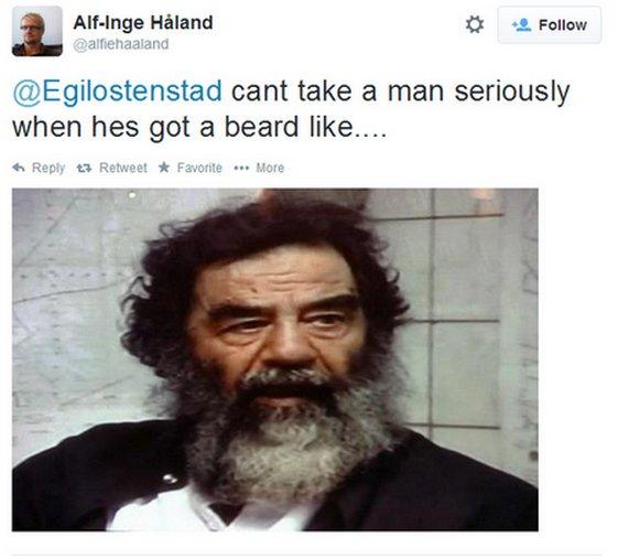Haaland Kean Tweet Saddam Hussein
