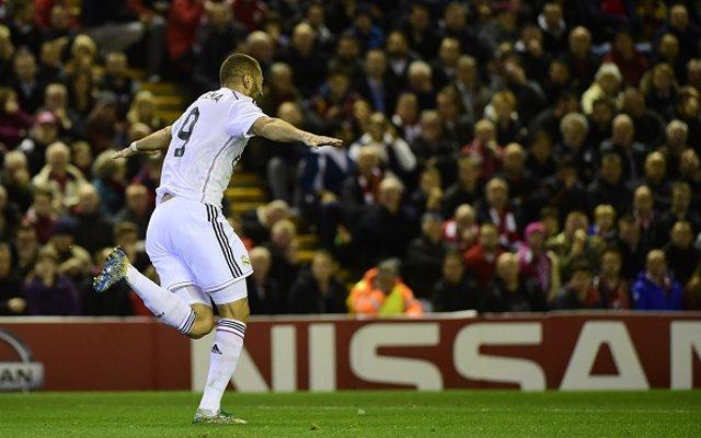 Karim Benzema Real Madrid v Liverpool