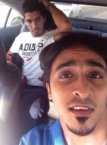 Luis Suarez Barcelona Taxi Selfie