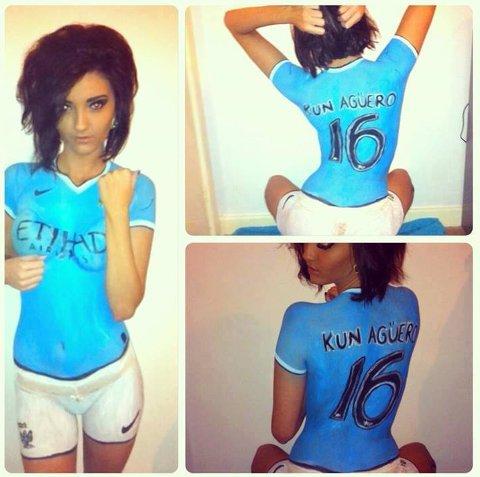 Manchester City Fan Body Paint