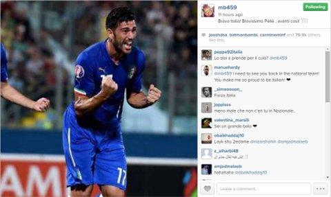 Mario Balotelli Instagram Graziano Pelle