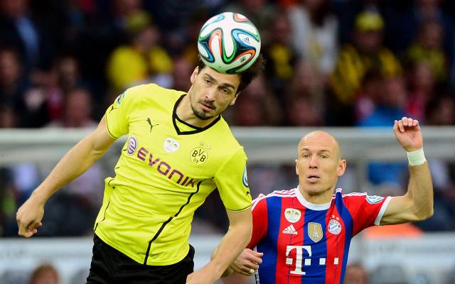 Mats Hummels Borussia Dortmund Arjen Robben Bayern Munich