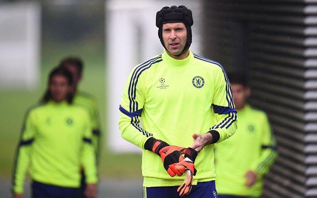 Petr Cech Chelsea training