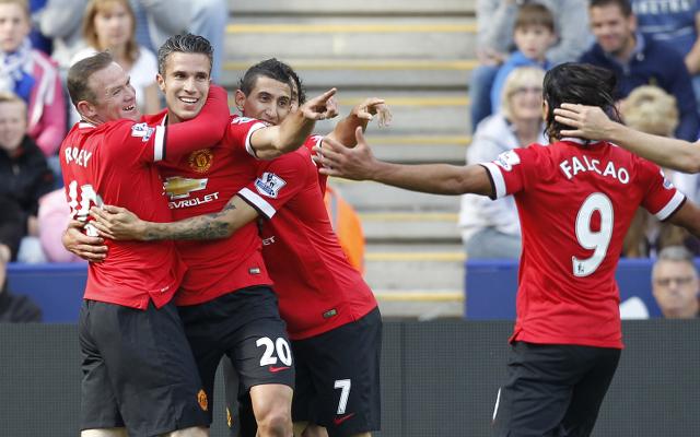 Wayne Rooney Robin Van Persie Angel Di Maria Radamel Falcao Manchester United