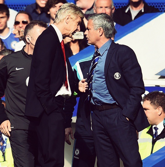 Wenger Mourinho fight