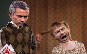 Wenger v Mourinho Fight Meme 3