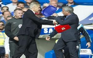 Wenger v Mourinho Fight Meme 4