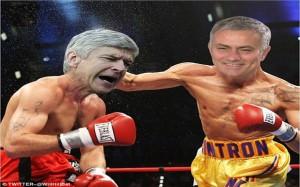 Wenger v Mourinho Fight Meme 9