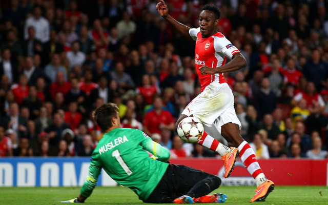 danny welbeck hat-trick arsenal v galatasaray