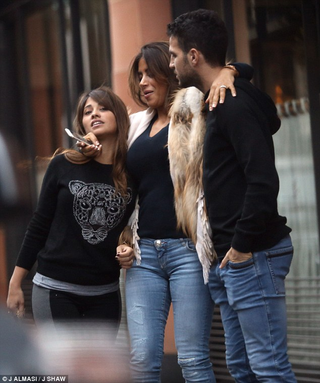 Lionel Messi Barcelona Star Accused Of Punching Liverpool: (Images) Cesc Fabregas Enjoys Lunch Date With Lionel Messi