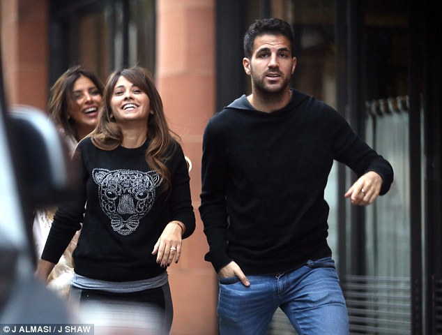 Antonella Roccuzzo (Messi's girlfriend) and Cesc Fabregas