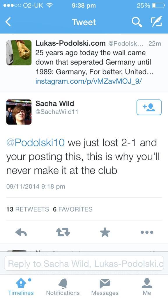Podolski tweet