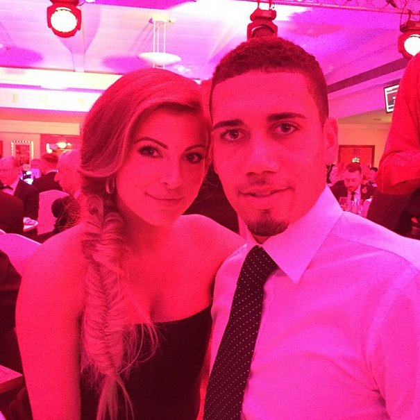 Chris Smalling and WAG Sam Cooke