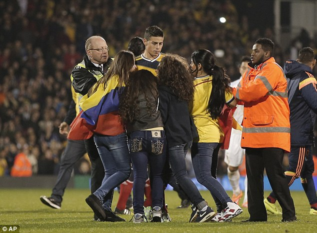 Colombia fans at Fulham
