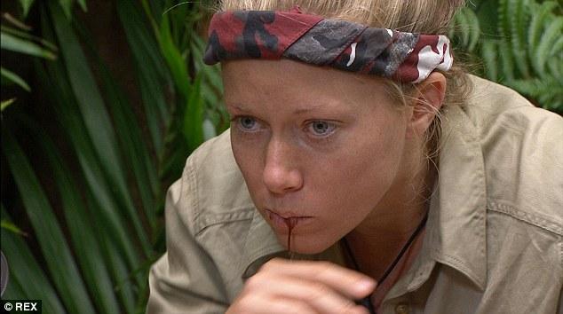 Kendra Wilkinson eating fisheye