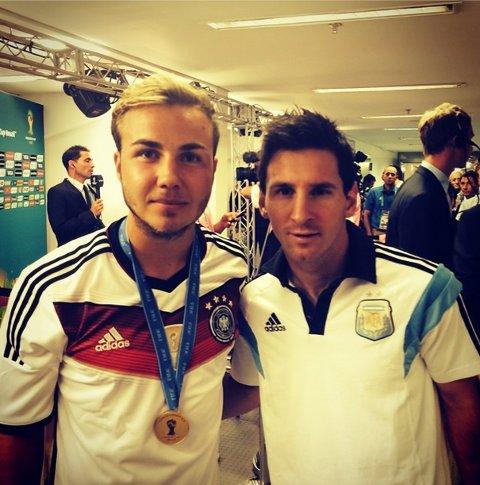 Mario Gotze Germany Lionel Messi Argentina