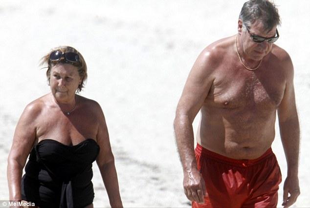 Sam Allardyce goes topless