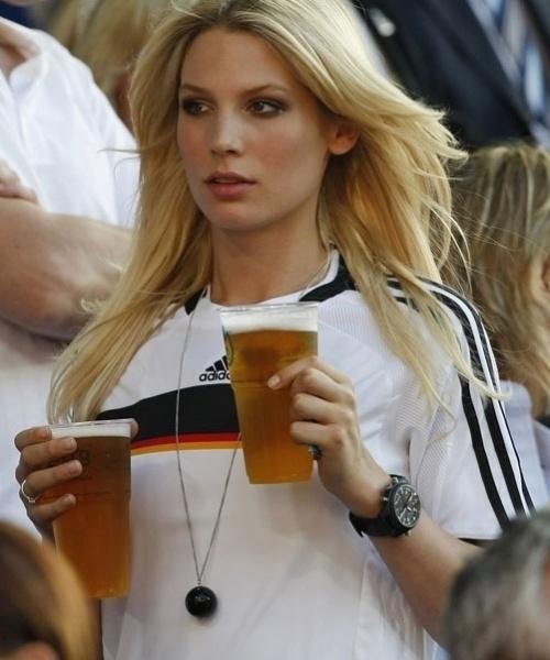 Sarah Brandner (girlfriend of Bastian Schweinsteiger) in Germany shirt