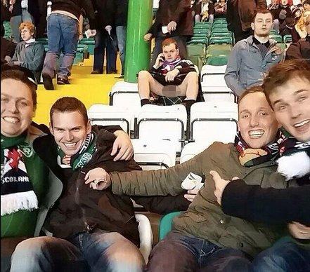 Scotland fan in kilt