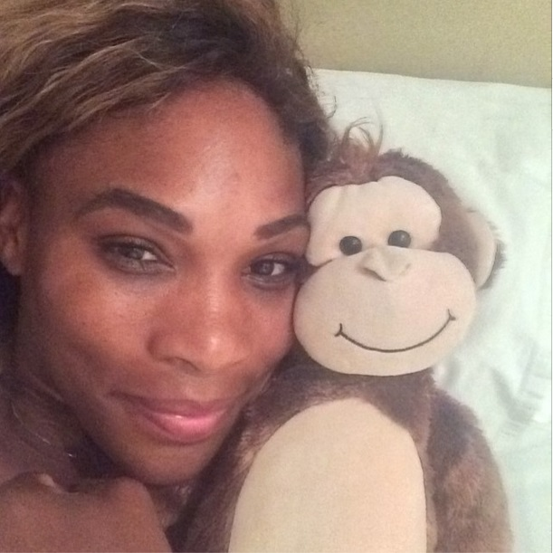 Serena Williams and teddy