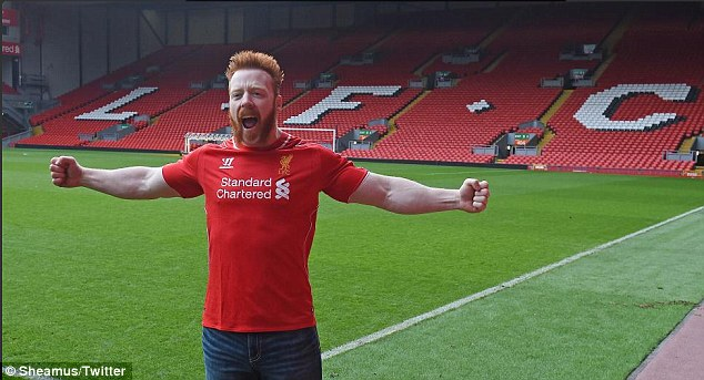 Sheamus, WWE star and Liverpool fan