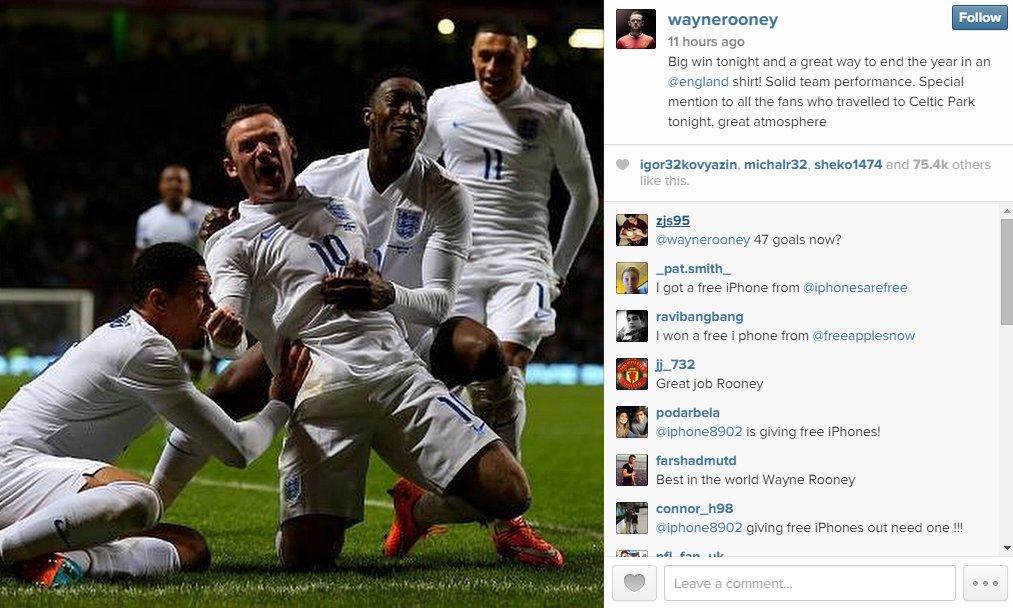 Wayne Rooney Instagram