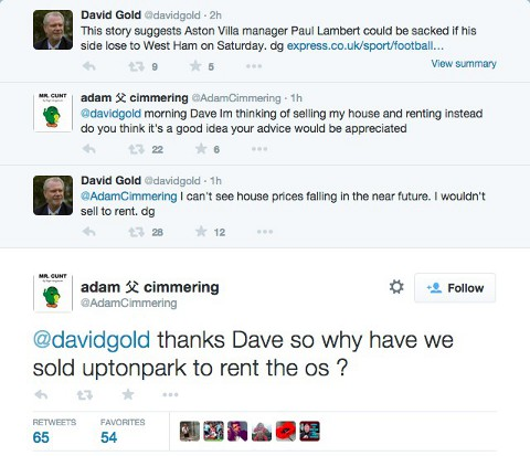 West Ham Ownder David Gold Trolled
