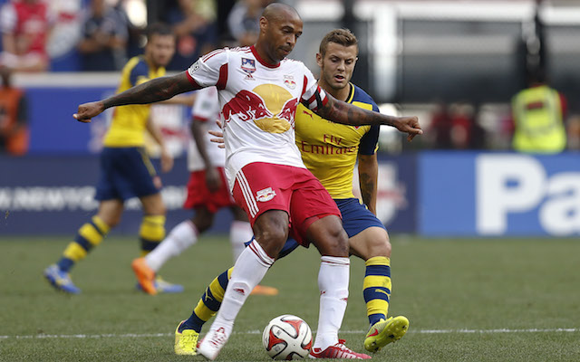 Jack Wilshere Thierry Henry Arsenal New York Red Bulls