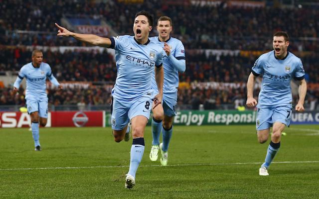 Manchester City Roma Samir Nasri
