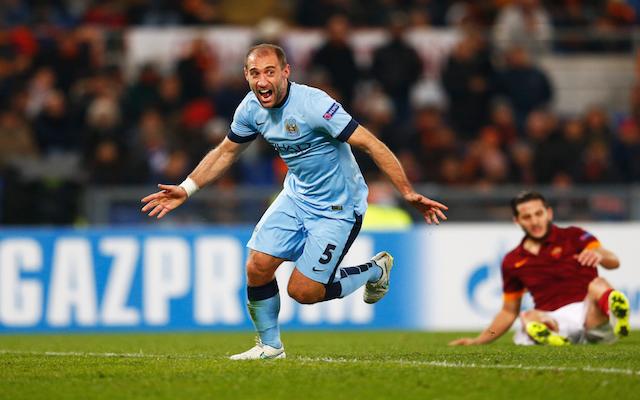 Pablo Zabaleta Manchester City Roma