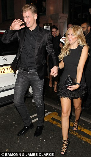 Joe Hart and girlfriend Kimberley Crew