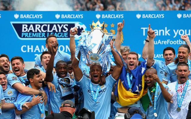 Manchester City Premier League trophy