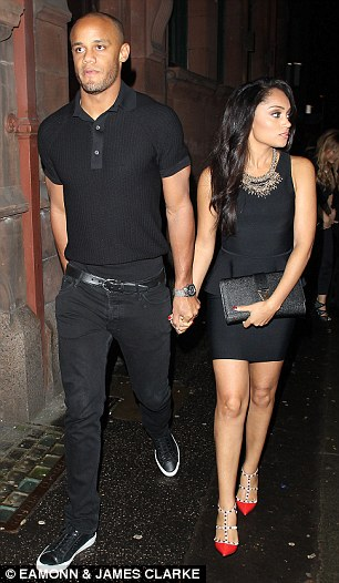 Vincent Kompany and wife Carla