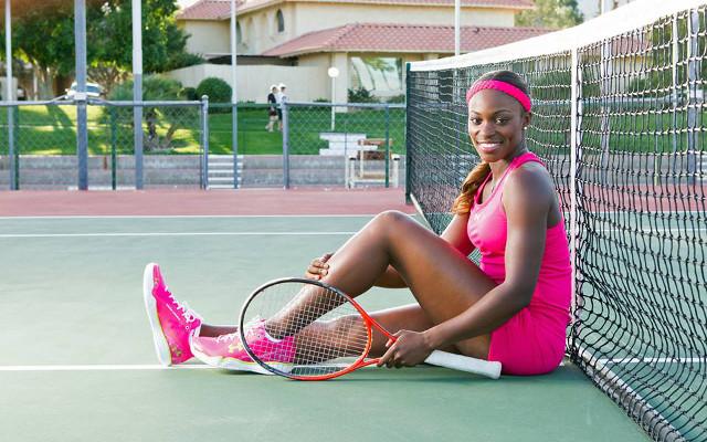 Image) Tennis Stunner Sloane Stephens Shows Off Playful Side & Hot Figure!  | CaughtOffside