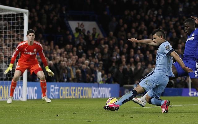 Thibaut Courtois Sergio Aguero Manchester City Chelsea