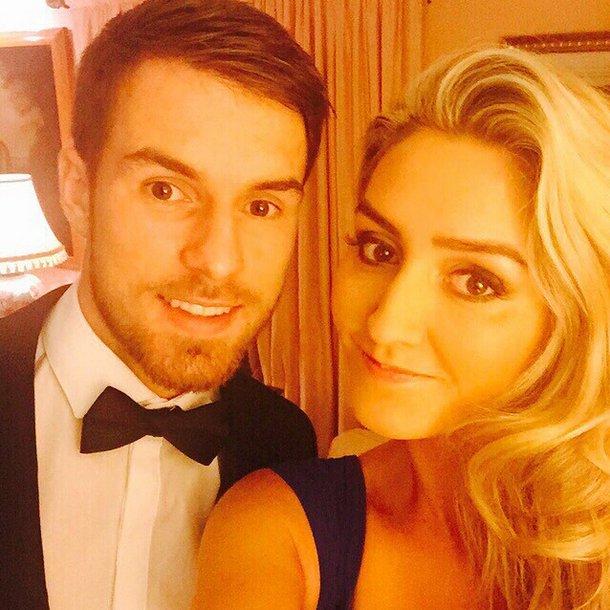 Aaron Ramsey and wife Colleen
