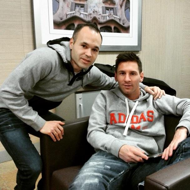 Barcelona Messi Iniesta Ballon d'Or