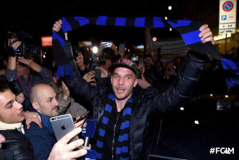 Lukas Podolski Arsenal Inter Milan